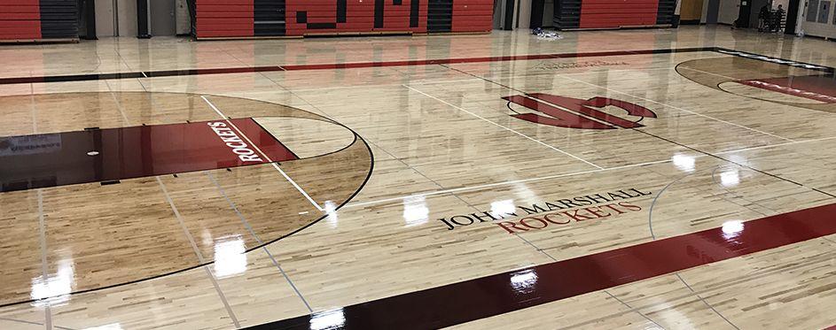 Дървена Настилка за Баскетболна Волейболна Зала