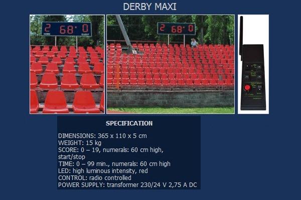 Спортно електронно табло за футболен стадион