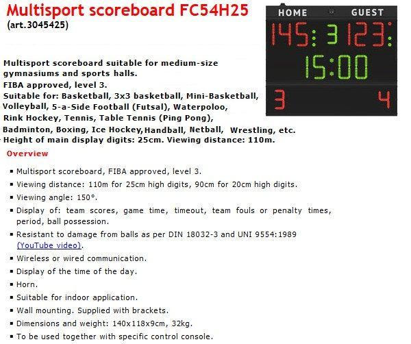 Електронно табло за отчитане на резултата и времето