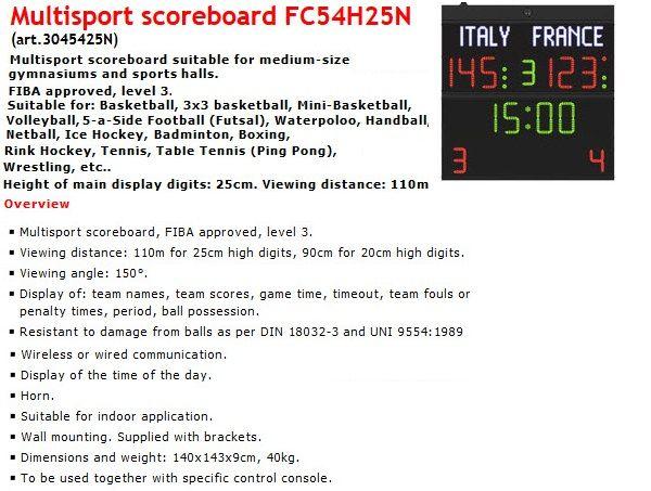 Волейболно табло за отчитане на резултата и времето