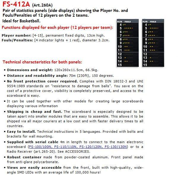 хандбални панели за електронно табло