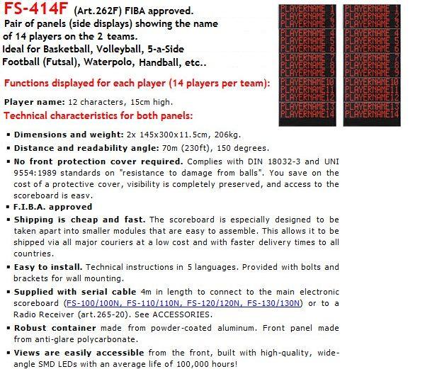 Волейболни панели за имената на играчите за електронно табло