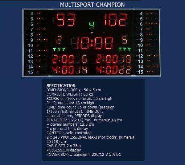 Баскетболно спортно електронно табло