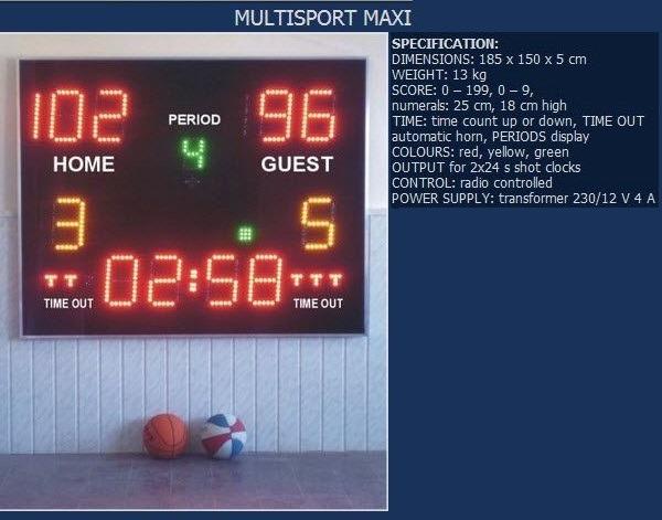 Волейболно електронно табло