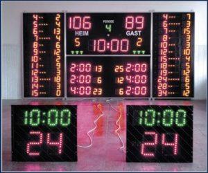 Електронно табло за баскетболна зала