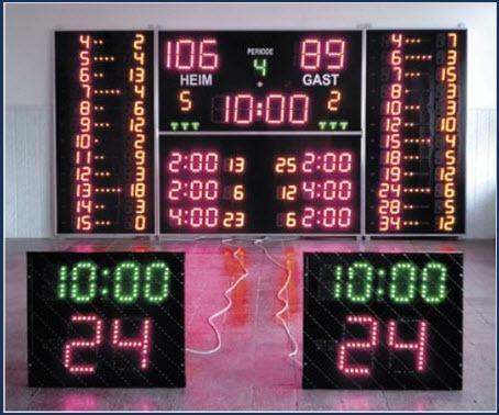 Електронни табла за спортни зали