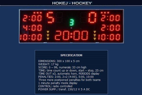 Спортно електронно табло за хокей на лед