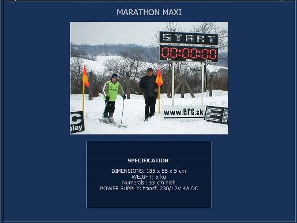 Електронно табло за маратон