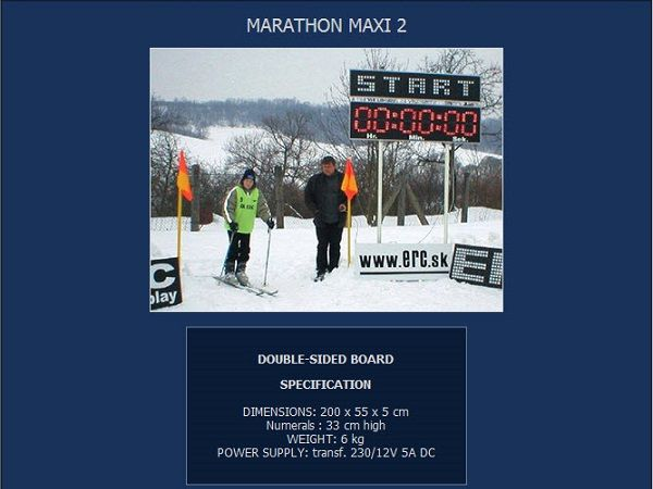 Електронно табло за маратон, бягане